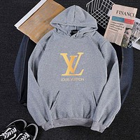 Louis Vuitton LV Women Fashion Hooded Top Sweater Pullover Sweatshirt