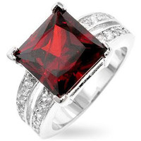 Garnet Princess Ring, size : 07