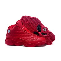 Air Jordan 13 Retro Aj13 All Red Basketball Shoes Us 5.5 13