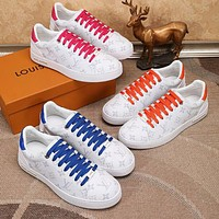 Hipgirls Louis Vuitton LV new couple casual printed alphabet sneakers