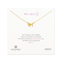 Phi Mu Necklace, Gold Dipped | Dogeared