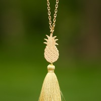So. Chic: My Favorite Fruit Necklace-Gold