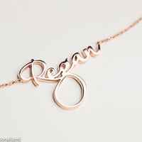 Rose Gold Choker Necklace -  Personalized Choker Necklace - Custom Name Choker - Name Plate Choker - Custom Jewelry