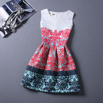 Vintage Printing For Women Party Female Club Dresses - 7 colour