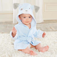 Baby Aspen Bathtime Bow Wow Puppy Hooded Spa Robe