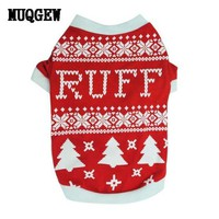 PEAPG2Q Christmas dog clothes clothing Costume Warm mascotas Outer wears winter clothes Sweaters products for animals mascotas