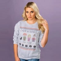 I Put a Spell on You Hocus Pocus Crewneck Sweatshirt