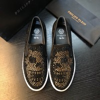 PHILIPP PLEIN【PP】Baitao Trend Rivet Lefu Men's Shoes