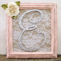 Pink Nursery Decor Baby Girl Nursery Custom Wall Letters Framed Letters Shabby Chic Nursery Wall Art