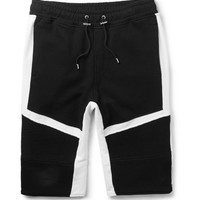 Balmain - Panelled Cotton-Jersey Shorts | MR PORTER