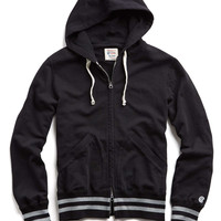 Mr. Porter Collaboration Tipped Full Zip Hoodie in Black