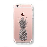 Pineapple Fruit iPhone 6s Clear Case iPhone 6 Cover iPhone 5S 5 5C Hard Transparent Case C0006