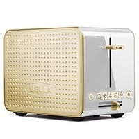Bella Housewares | Dots Collection 2.0 2-Slice Toaster, White and Gold in Collections Toasters and Toasters and kitchen appliances, colorful appliances, toasters, juicers, blenders