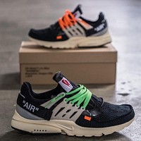 OFF-WHITE x NIKE Air Presto personality trendy brand men and women sneakers shoes