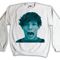 One Direction Louis Tomlinson Blue Print Sweatshirt x Crewneck x Jumper x Sweater - All Sizes Available