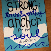 Painted canvas with quote or bible verse