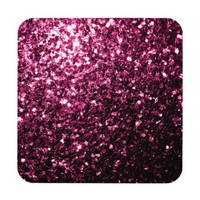 Beautiful Pink glitter sparkles look coaster by PLdesign
