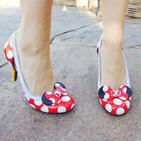 Custom Made Minnie Mouse Inspired Pumps