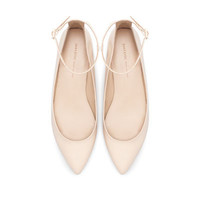 POINTED BALLERINA WITH ANKLE STRAP - Woman - New this week - ZARA United States