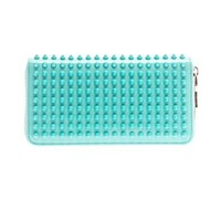 CHRISTIAN LOUBOUTIN Panettone spike patent leather wallet
