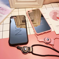 """""""NICE"""" Letter Smiling Face Apple iPhone 6/6Plus Silica Gel Phone Case iPhone 7 Mirror Surface Soft Phone Case"""