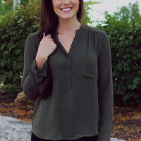 Modest Me Top - Olive