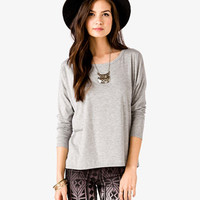 Long Sleeve Boxy Tee | FOREVER 21 - 2045485426