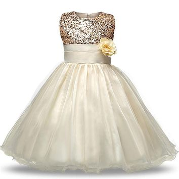 Flower Girl Wedding Dress Teenage Girl Evening Gown Dress Girl Ceremonies Party Clothes Children Clothing Girl 4 6 8 10 12 Years