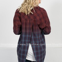 Dear John Ombre Plaid Top