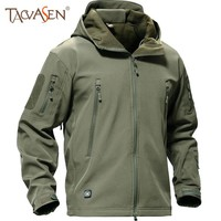 Outdoor Softshell Jacket Men Military Tactical Jackets Waterproof Sport Clothes Fishing Hiking Jacket Male Winter Coat
