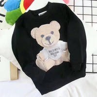 Moschino Girls Boys Children Baby Toddler Kids Child Fashion Casual Top Sweater Pullover