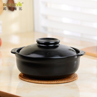 Casserole sauceboxes soup ceramic cooking pot open flame soup pot high temperature resistant ishinabe claypot health pot