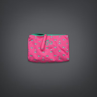 Whale Print Cosmetic Pouch