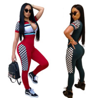 Sexy Sports Printed Jumpsuit
