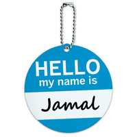 Jamal Hello My Name Is Round ID Card Luggage Tag