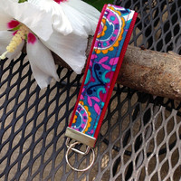 Key Fob Wristlet Wine Colored by RubyStation on Etsy