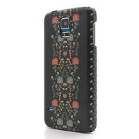 Floral ornament black iphone 6 case iphone 6 plus case floral Samsung galaxy S6 case  galaxy S5 case floral iphone 4S 5S S4 note 3 note 4