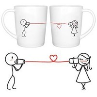 """BOLDLOFT® """"Say I Love You"""" His and Hers Coffee Mugs-His and Hers Gifts,Valentines Day Gifts for Him for Her,Couples Gifts,Cute Gifts for Boyfriend or Girlfriend,Romantic Gifts for Anniversary,Wedding,Birthday"""