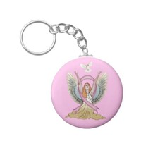 Angel and Dove with Breast Cancer Ribbon