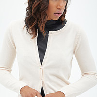 FOREVER 21 Faux Pearl Knit Cardigan