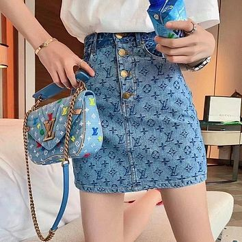 LV Louis Vuitton Fashion Cowboy Short skirt