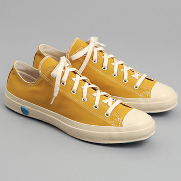 shoes like pottery - good weaver low top vulcanized sneakers mustard yellow canvas