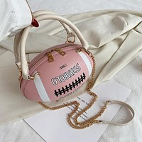 Women Fashion Football Shape Handbag Purse