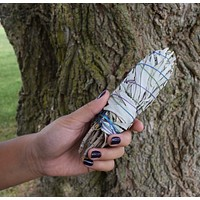 WHITE SAGE SMUDGE STICK - Medium Smudging Stick to Clear Away Negative Energy