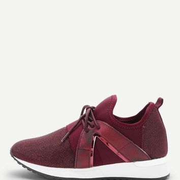 Lace Up Low Top Velcro Sneakers