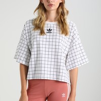 Adidas Grid Print Women's Sports T-shirt