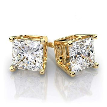 STAINLESS STEEL Studs Earrings With Artificial Diamond Mens Womens Earrings Stud