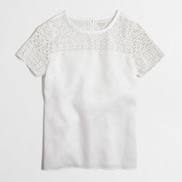 Factory linen lace tee