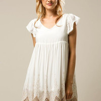 Breclyn Lace Accent Babydoll Dress