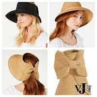 International Concepts Packable Roll-up Sun Visor Hat Cap with BowVarious colors